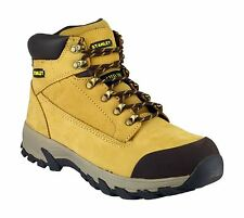 Stanley Mens Milford Safety Boots Textile Leather Rubber Lace Up Fastening Shoes