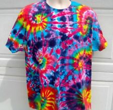 * TIe Dye T Shirt MULTI Spirals, Red Burning Man, Adult Sizes, grateful dead