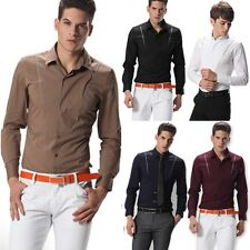 2013 Collection New Mens Luxury Fashion Formal Casual Tops Slim Fit Dress Shirt