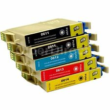 5 Generic Replacements for Epson T0615 Printer Ink Cartridges. UK VAT Invoice.