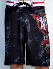 Affliction - SAINTS FLAG - Men's Boardshorts Swim Trunks - Shorts - NEW - Black