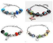 European Style Charm Bracelet in Stainless Steel