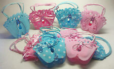 "Baby Shower Footprint  Woven Pouches ""It's a Girl"" ""It's a Boy""  Fillable/Favor"