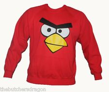 Red Adult Angry Birds Jumper Funny App Game Sweatshirt Warm Bird Sweater