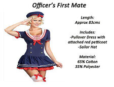 SAILOR GIRL fancy dress party Halloween christmas Navy Red Nautical Costume