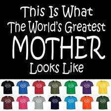 Worlds Greatest Mother Funny Birthday Christmas Mothers Day Mom Gift T Shirt