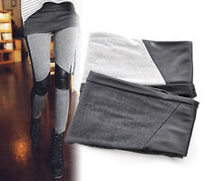 Lady Sexy Stitching Skinny Elastic Leggings Tights Pants Stretchy M0604
