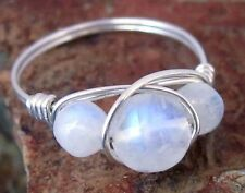 925 Sterling Silver Moonstone Ring - All Sizes Avail - Natural Stone Jewelry
