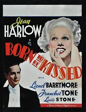 BORN TO BE KISSED Jean Harlow Lionel Barrymore Vintage Movie Poster A1A2A3A4Size