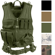 Military MOLLE Cross Draw Tactical Adjustable Vest