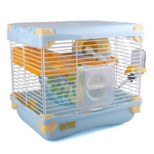 NEW Alice Small Deluxe 2 Storey Hamster Cage With Wheel Bowl Bottle Cable Tunne
