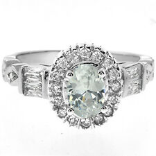 2.50 Ct White Color Oval Cut Cubic Zirconia CZ 925 Sterling Silver Ring
