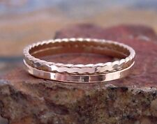 14K Gold Filled Stacking Rings Set of 2 - Thin Gold Bands - Gold Stack Rings