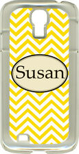 Monogrammed Chevron Designs on Samsung Galaxy S4 Hard or Rubber Case Cover