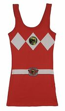 Power Rangers I Am Red Ranger Costume Licensed Sexy Tunic Tank Dress S-XL
