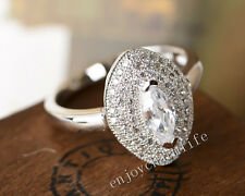 Fashion Princess Cut With Micro Pave Russian CZ 925 sterling silver Wedding ring