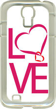 Love Heart or Raining Love Design on Samsung Galaxy S4 Hard or Rubber Case Cover