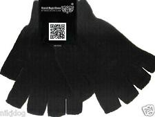 Knit Winter Gloves Fingerless Gloves Magic Gloves  Black
