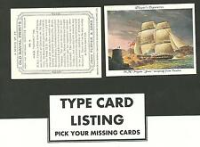 Type Cards: Players OLD NAVAL PRINTS ( Large ) EX+ cond.