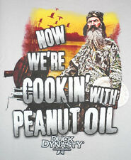 """Duck Dynasty """"Now We're Cookin' With Peanut Oil"""" T Shirt  (S/M/L/XL/2XL/3XL)"""