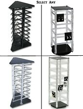 EARRING JEWELRY DISPLAY ROTATING EARRING STAND RACK ACRYLIC CASE SHOWCASE  DEAL