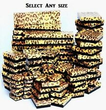 LOT of 20~50~100 Pcs LEOPARD COTTON FILLED BOXES RING GIFT BOXES JEWELRY BOXES