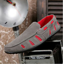 2013 Mens Casual Real Nubuck Cow Leather Moccasin breathable mesh Loafer Shoes