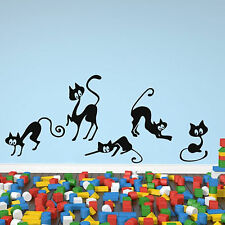 5 Funny Cats Animals Wall Sticker Art Decal Design Transfer Vinyl Decoration A55