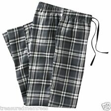 Croft & Barrow Pajama Bottoms Lounge Pants Sleepwear ~ Black Plaid