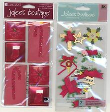 U CHOOSE  Jolee's HOLIDAY GREENS RED HOLIDAY ACCESSORIES 3D Stickers Christmas