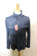 MISSONI M-65 MILITARY MEN'S MADE IN ITALY SIGNATURE ZIG ZAG JACKET BLUE