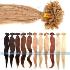"18"" 20"" 22"" 100 Strands Pre Bonded Nail U Tip 100% Remy Human Hair Extensions"