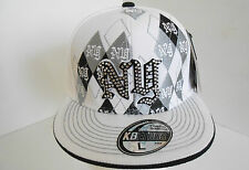 BRAND NEW BILING DIAMANTE  NY FLAT PEAK ALL FASHION FITTED  BASEBALL  HAT