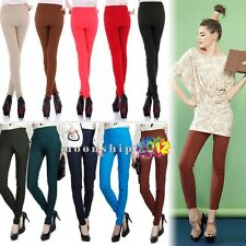 Women's Sexy Multi-Color Long Leggings High Waist Skinny Pencil Pants