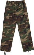 Woodland Camouflage Military BDU Cargo Bottoms Fatigue Trouser Camo Pants