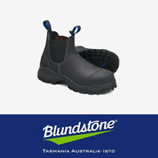 Blundstone Work Boot 990 BL990 - Black Leather Steel Cap Toe Safety Industrial