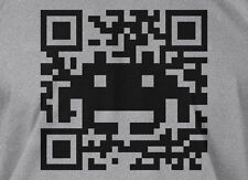Space Alien QR Code T-shirt Video Game Computer Geek Mens Ladies Funny T-shirt