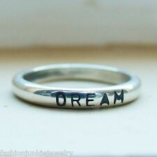 Dream Ring - Engraved Stackable Ring in Sterling Silver *NEW* Dream Believe