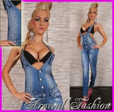 NEW strappy JEANS OVERALL LADIES LIGHT BLUE DENIM JUMPSUIT FASHION JEAN HOTPANTS