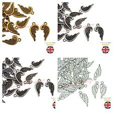 26 x Tibetan Silver Tercel Wing Charms Craft Beading Jewellery PICK STYLE - ML