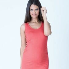 Ripe Maternity Fitted Tank sz 8 10 12 14 16 Coral Pink Spring SALE Singlet Top