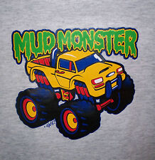 Mud Monster Truck Infant Toddler T-Shirt New Baby Gift 6 Months--4T