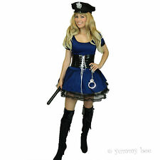 Police Woman Fancy Dress Ladies Costume Cop Plus Size 6 - 18 Policewoman Copper