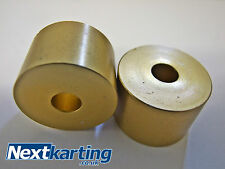 Aluminium Kart Seat Spacers / Washers 10 x 30mm (8.5mm hole) in Gold - TKM Rotax