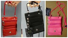 LEATHER in CHICAGO MINI CROSS BODY or SHOULDER HANDBAG PURSE POUCH CELL PHONE +