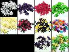 150 x 14mm Opaque Acrylic Snow Flake Spacer Beads Jewellery Crafts ML