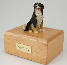 Bernese Mountain Dog Pet Funeral Cremation Urn Avail in 3 Diff Colors & 4 Sizes