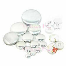 Fabric Self Covered Cover Buttons Aluminum Flat Plastic Ring Back DIY