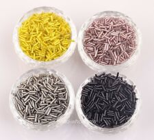 New Jewelry Making 1000 Pcs Tube Czech Glass Spacer Beads 8*2mm