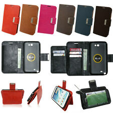 Wallet Case MK01 For Samsung Galaxy Edge,S4, S3, Note2, Note  Synthetic Leather